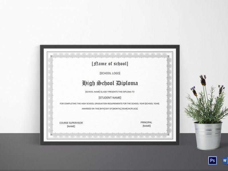 Things to Keep in Mind When Creating a High School Diploma