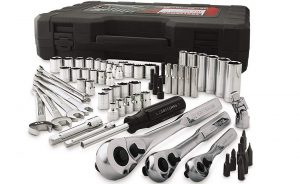 complete mechanics tool set with box
