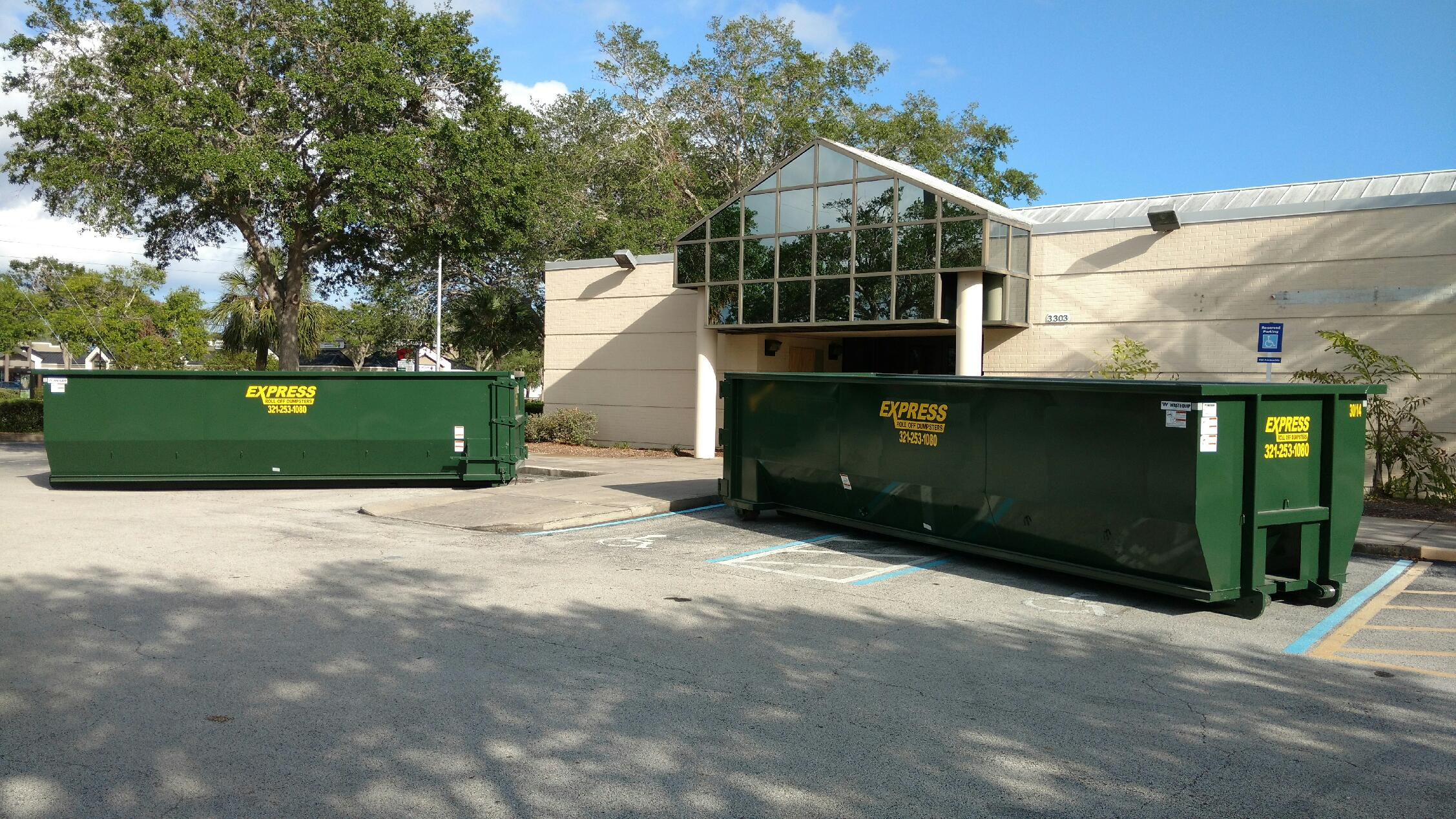 dumpster rental near me prices