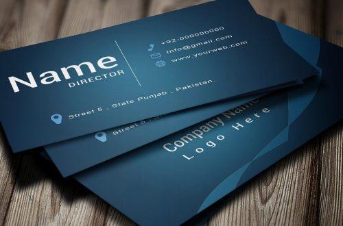 single metal business card